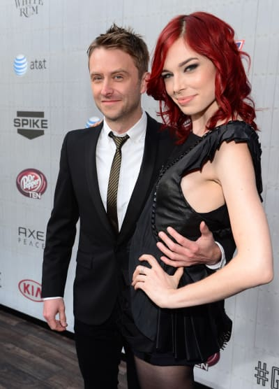 Chris Hardwick and Chloe Dykstra