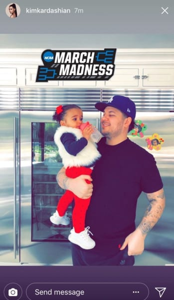 Rob Kardashian with Dream on His Birthday