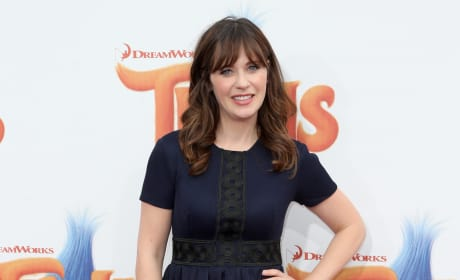 Zooey Deschanel in Black