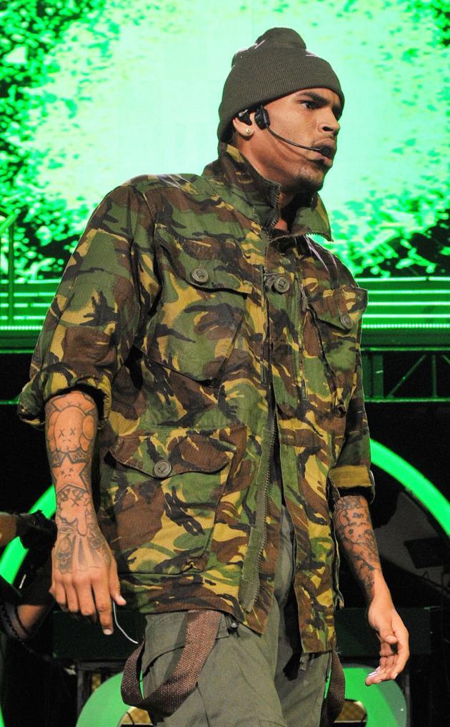 Chris Brown Rocks Out
