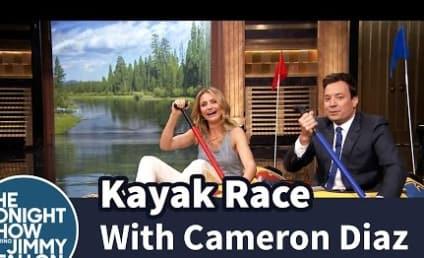 Cameron Diaz Races Jimmy Fallon on a Kayak: Who Won?!?