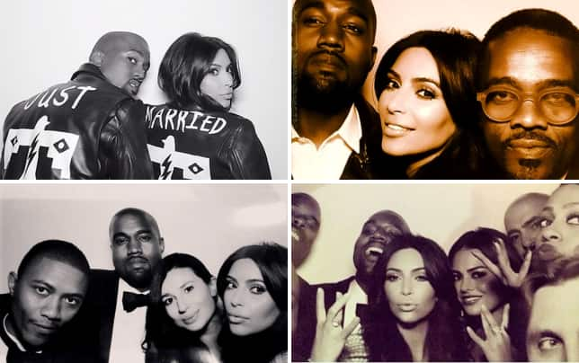 Kim kardashian and kanye west just married