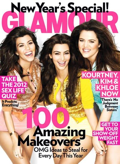 Kardashian Sisters on Glamour