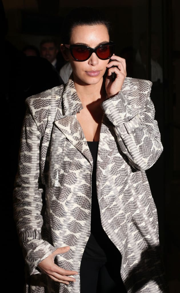 Kim Kardashian on the Phone