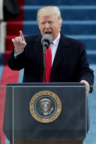 Resultado de imagem para Trump at the trump-inaugural-address