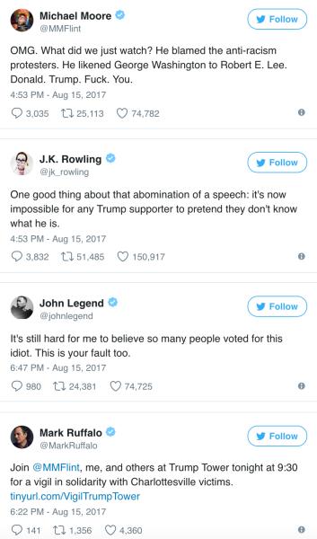 celebs v. trump