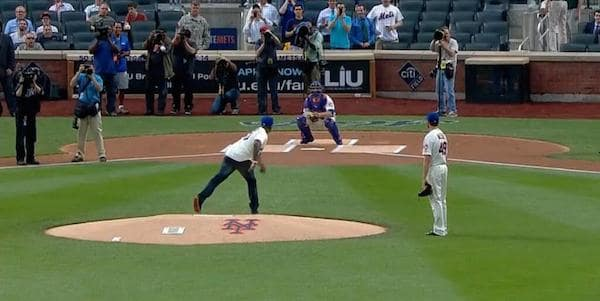 50 Cent First Pitch Photo