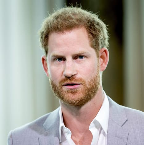 Prince Harry in Grey Suit
