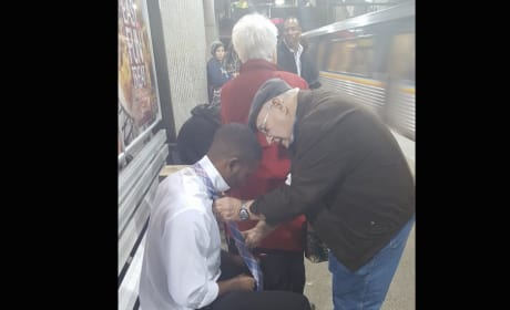 Elderly Man Helps Stranger Look Sharp, Goes Viral for All the Right Reasons