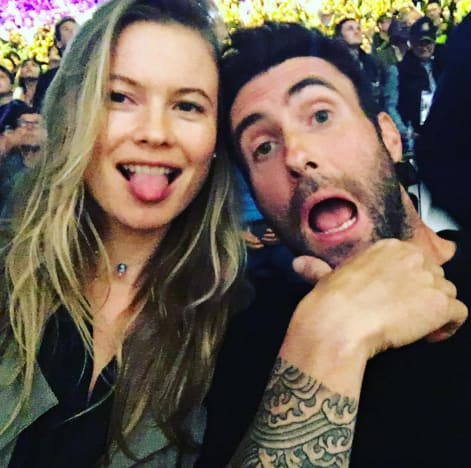 Adam Levine and Behati Prinsloo Pic