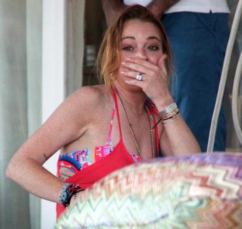 Lindsay Lohan Engagement Ring Photo