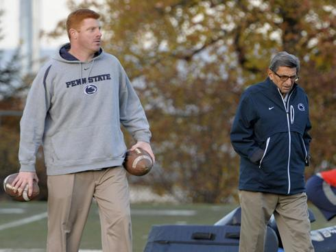 Mike McQueary and Joe Paterno