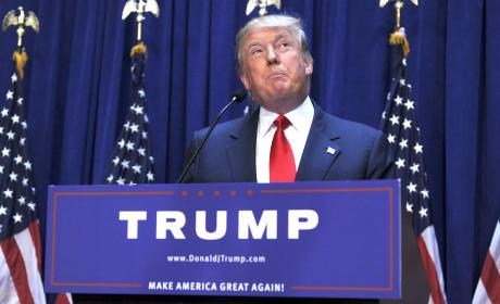 Donald Trump at the Podium