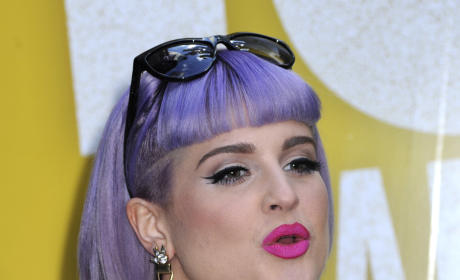 Kelly Osbourne Purple Hair Pic
