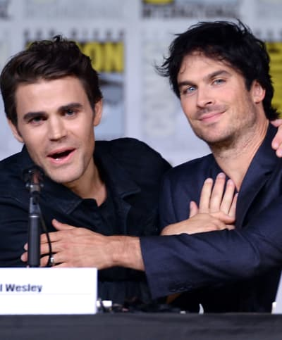 Paul Wesley and Ian Somerhalder Together