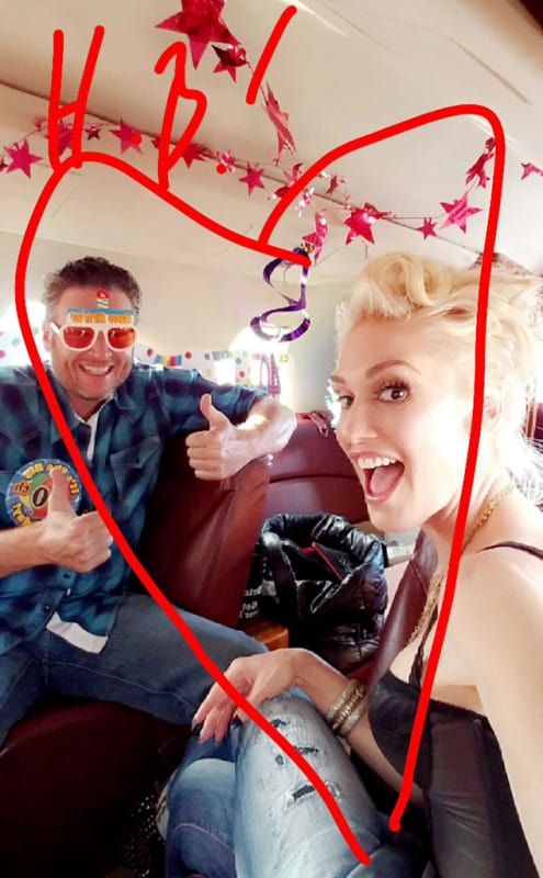 Blake's tour bus was all decked out in birthday decor