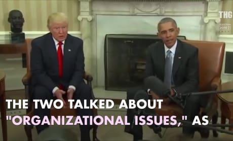 Donald Trump Actually Meets Barack Obama