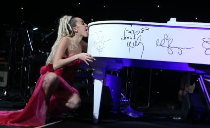 Miley Cyrus Licks a Piano in The Name of Charity