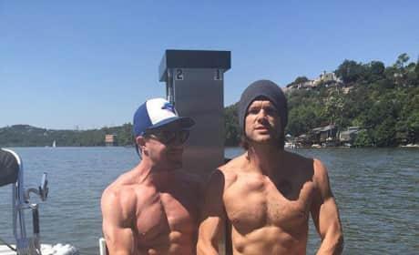 Stephen Amell and Jared Padalecki Shirtless