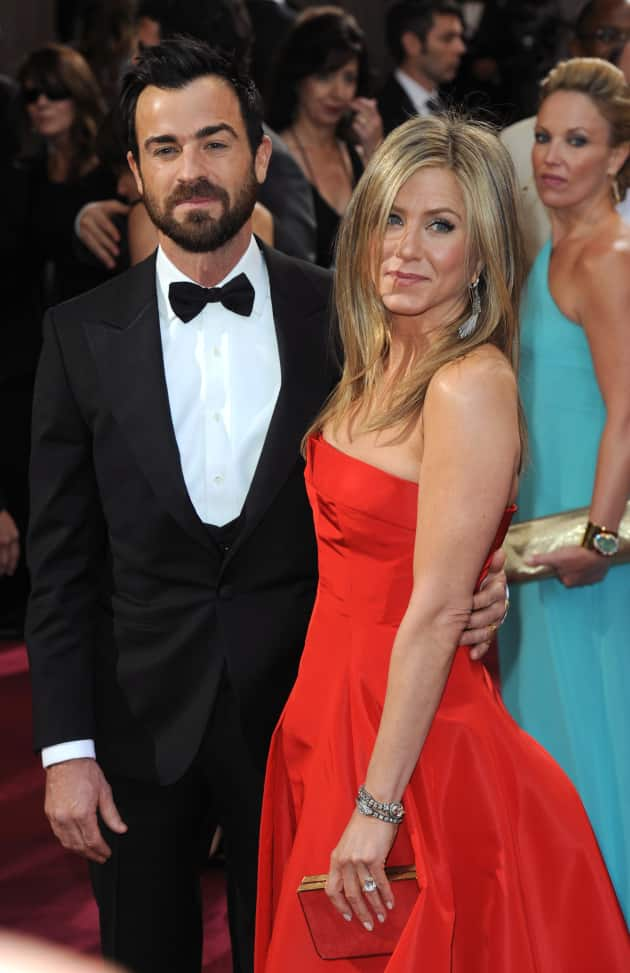 Jennifer Aniston and Justin Theroux Red Carpet Image