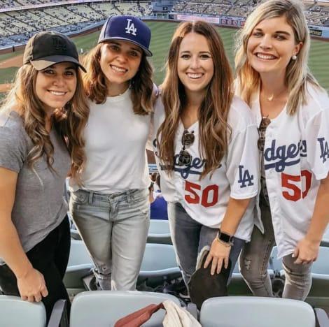 Jana & Jinger at a Dodgers Game