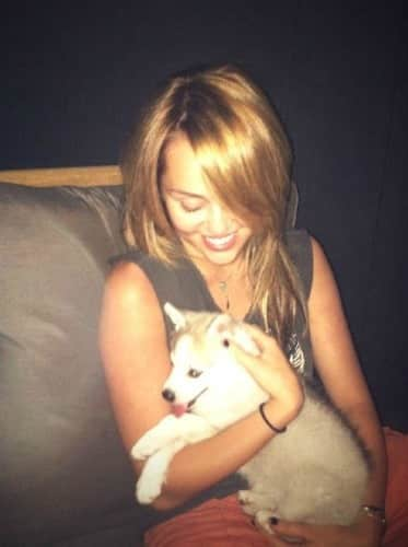 Miley Cyrus and New Puppy