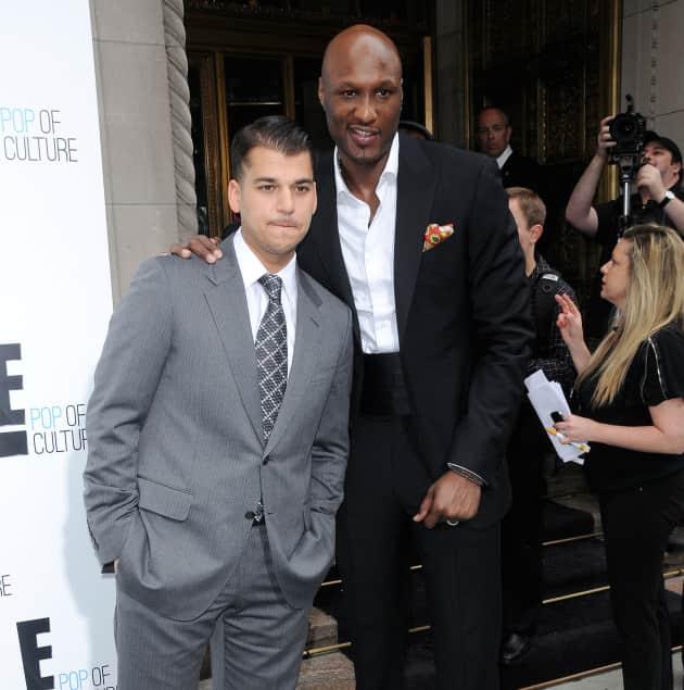 Rob Kardashian and Lamar Odom on the Red Carpet