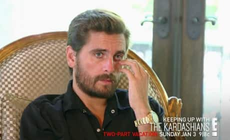 Scott Disick Crashes Kourtney Kardashian's Vacation: WATCH!