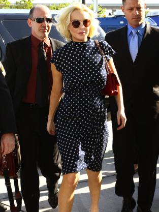 Lindsay Lohan, Polka Dot Dress