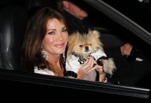 Lisa Vanderpump in the Car