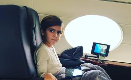 Mason Disick on a Jet