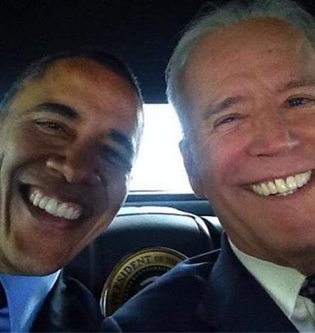 Biden, Obama Selfie!