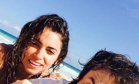 Ian Somerhalder, Nikki Reed Beach Photo