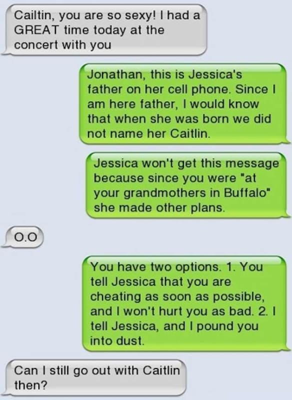 Jessica's Dad Will Whomp Your Ass