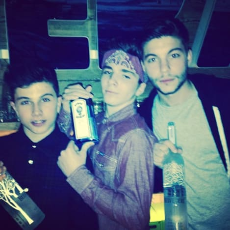 Madonna's Son with Liquor