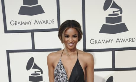 Ciara at the 2016 Grammys
