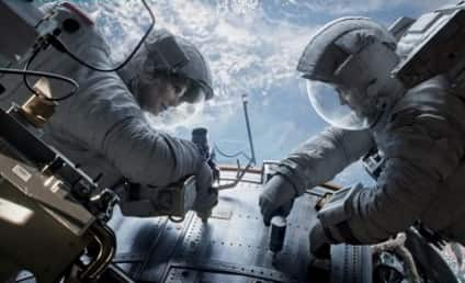 Gravity Image: Sandra Bullock and George Clooney In Space