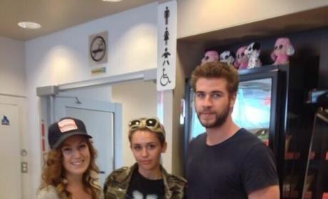 Miley and Liam in Canada