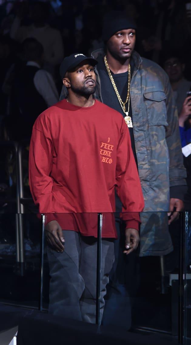 Kanye West and Lamar Odom