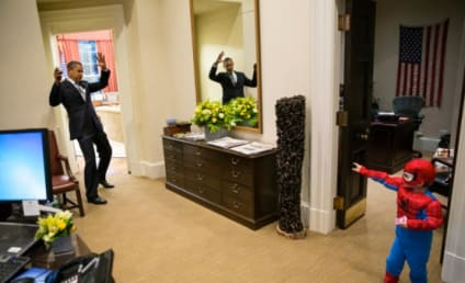 President Obama: Attacked By Mini Spider-Man!