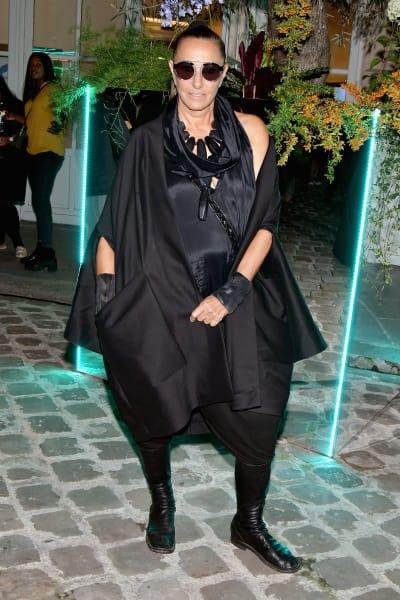 Donna Karan in Black with Fun Lighting