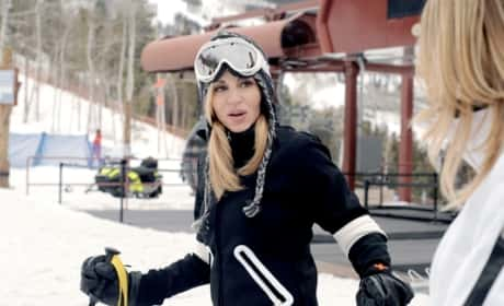 Camille Grammer Skiing