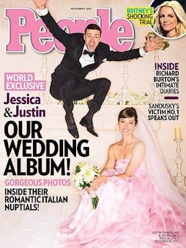 Justin Timberlake Jumps for Wedding Joy