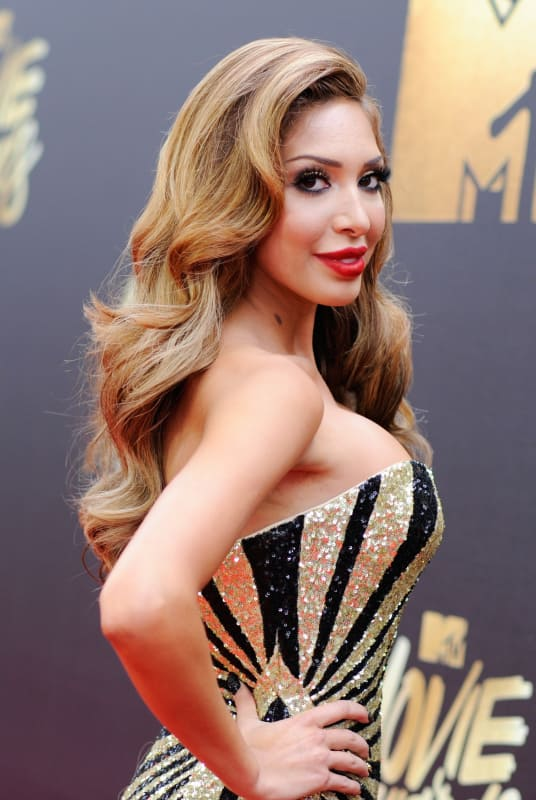 Farrah on the red carpet