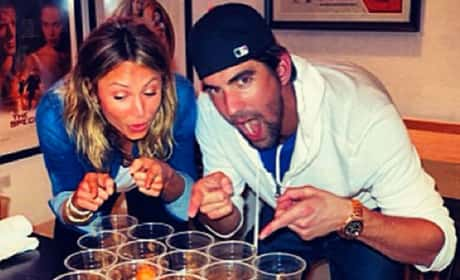 Stacy Keibler and Michael Phelps