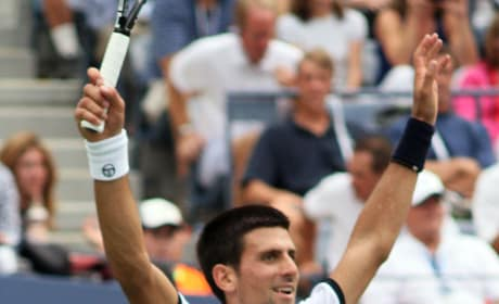 Novak Djokovic at U.S. Open
