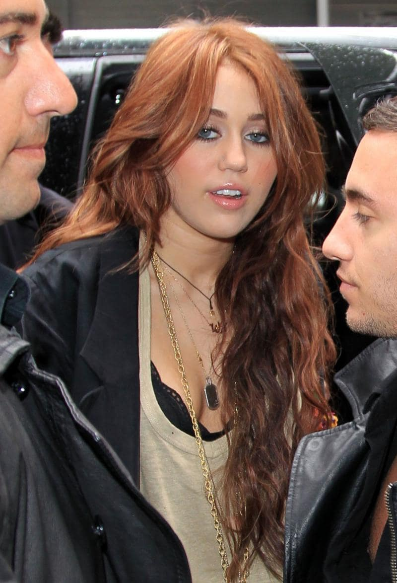 What Do You Think Of Mileys Light Red Hair Color The Hollywood