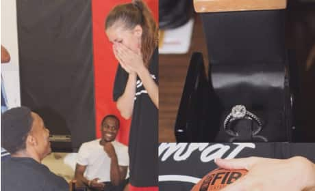 Basketball Player Proposes Mid-Game: Watch Now!