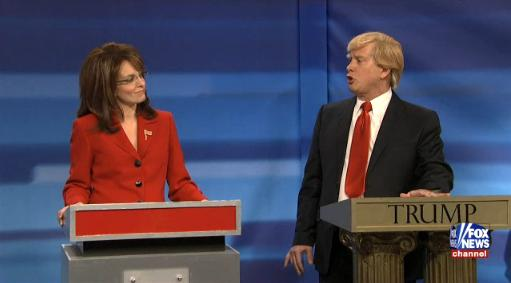 Tina Fey and Darrell Hammond