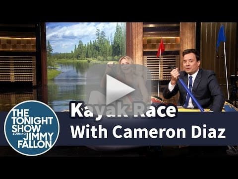 Jimmy Fallon vs. Cameron Diaz in a Kayak Race